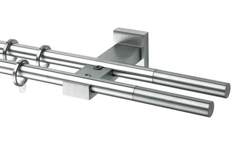 Bastoni per tende in acciaio cromato e satinato - Supporti per bastoni tende ...